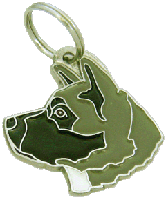 AKITA BLACK GREY - pet ID tag, dog ID tags, pet tags, personalized pet tags MjavHov - engraved pet tags online